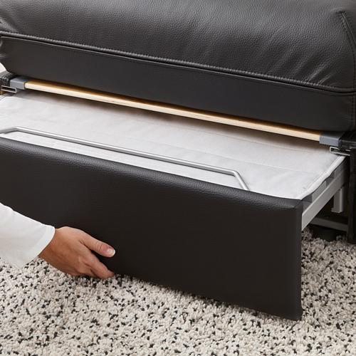 VALLENTUNA - 兩座位組合式梳化連梳化床, and storage/Murum black   IKEA 香港及澳門 - PE692072_S4