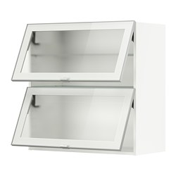 METOD - wall cab horizontal w 2 glass doors, white/Jutis frosted glass | IKEA Hong Kong and Macau - PE789019_S3