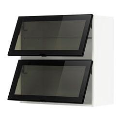 METOD - wall cab horizontal w 2 glass doors, white/Jutis smoked glass | IKEA Hong Kong and Macau - PE789022_S3