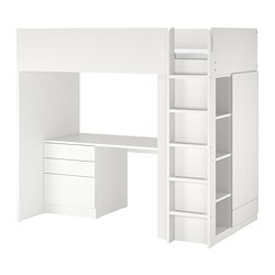SMÅSTAD - loft bed, white white/with desk with 4 drawers | IKEA Hong Kong and Macau - PE789041_S3