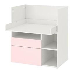 SMÅSTAD - 書檯, 白色 淡粉紅色/附2個抽屜 | IKEA 香港及澳門 - PE789067_S3