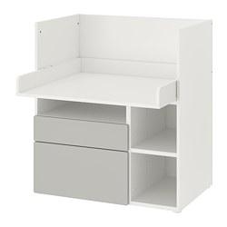 SMÅSTAD - 書檯, 白色 灰色/附2個抽屜 | IKEA 香港及澳門 - PE789068_S3