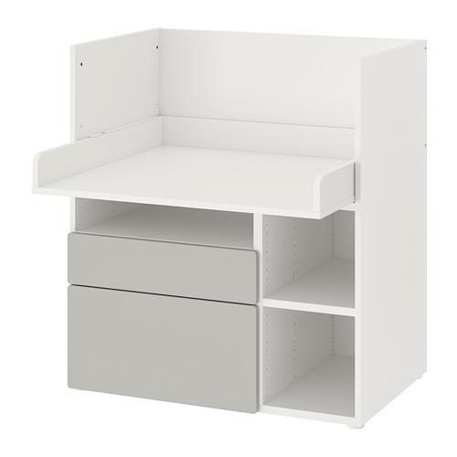 SMÅSTAD - 書檯, 白色 灰色/附2個抽屜 | IKEA 香港及澳門 - PE789068_S4