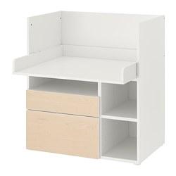 SMÅSTAD - 書檯, 白色 樺木/附2個抽屜 | IKEA 香港及澳門 - PE789070_S3