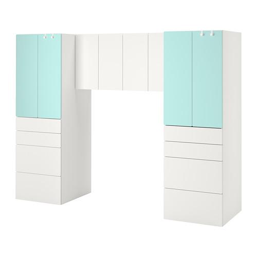 PLATSA/SMÅSTAD - storage combination, white/pale turquoise   IKEA Hong Kong and Macau - PE789077_S4