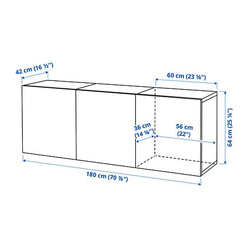 BESTÅ - 上牆式貯物組合, black-brown/Timmerviken black | IKEA 香港及澳門 - PE834321_S4