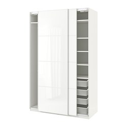 PAX - wardrobe, white/Färvik white glass | IKEA Hong Kong and Macau - PE702156_S3