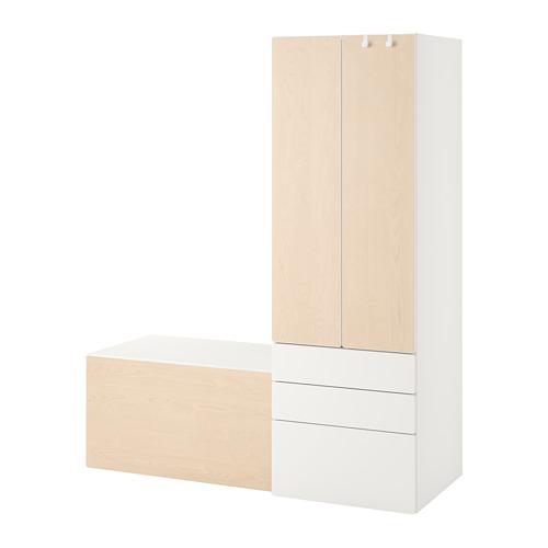 PLATSA/SMÅSTAD - 貯物組合, white birch/with bench | IKEA 香港及澳門 - PE789103_S4