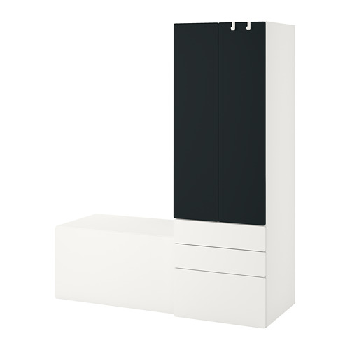 PLATSA/SMÅSTAD - 貯物組合, white blackboard surface/with bench | IKEA 香港及澳門 - PE789106_S4