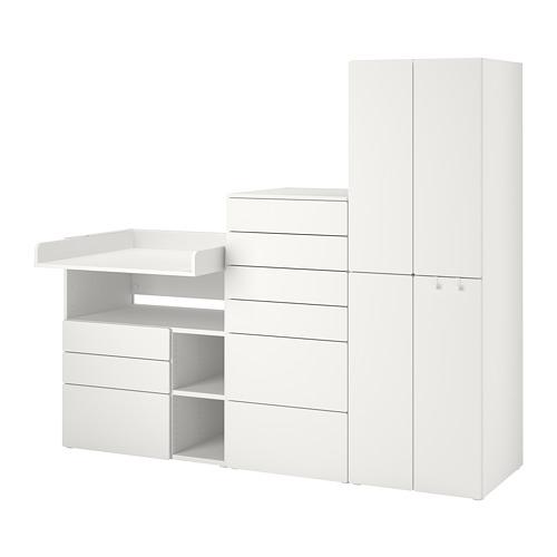PLATSA/SMÅSTAD - 貯物組合, white white/with changing table | IKEA 香港及澳門 - PE789123_S4