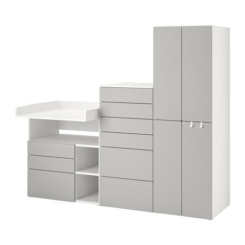 PLATSA/SMÅSTAD - 貯物組合, white grey/with changing table | IKEA 香港及澳門 - PE789128_S4