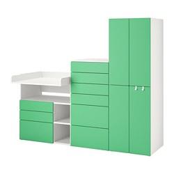 PLATSA/SMÅSTAD - 貯物組合, white green/with changing table | IKEA 香港及澳門 - PE789130_S3