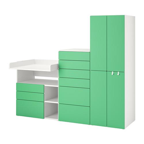 PLATSA/SMÅSTAD - storage combination, white green/with changing table | IKEA Hong Kong and Macau - PE789130_S4
