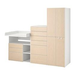 PLATSA/SMÅSTAD - 貯物組合, white birch/with changing table | IKEA 香港及澳門 - PE789132_S3
