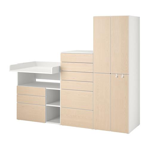 PLATSA/SMÅSTAD - storage combination, white birch/with changing table   IKEA Hong Kong and Macau - PE789132_S4