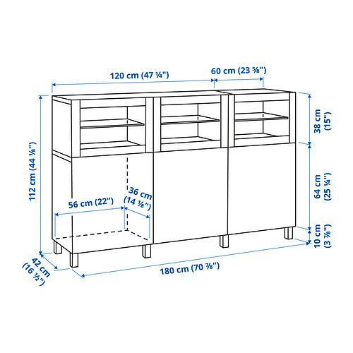 BESTÅ - 貯物組合連門, white Laxviken/Glassvik white clear glass | IKEA 香港及澳門 - PE834325_S4