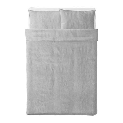 BERGPALM - 被套連2個枕袋, 灰色/條紋, 200x200/50x80 cm  | IKEA 香港及澳門 - PE692797_S4