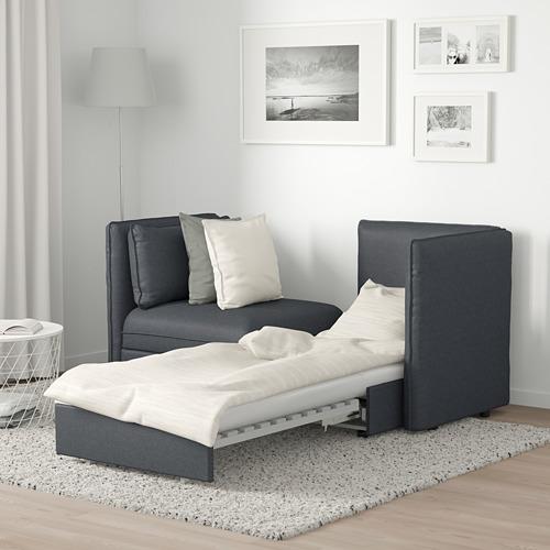 VALLENTUNA - 2-seat modular sofa with sofa-bed, and storage/Hillared dark grey | IKEA Hong Kong and Macau - PE691214_S4