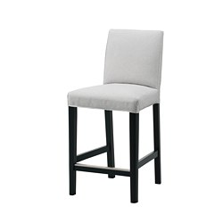 BERGMUND - 高腳凳連靠背, 黑色/Orrsta 淺灰色 | IKEA 香港及澳門 - PE789193_S3