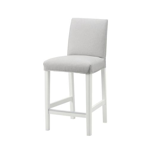BERGMUND - 高腳凳連靠背, 椅座高度62cm, 白色/Orrsta 淺灰色 | IKEA 香港及澳門 - PE789233_S4