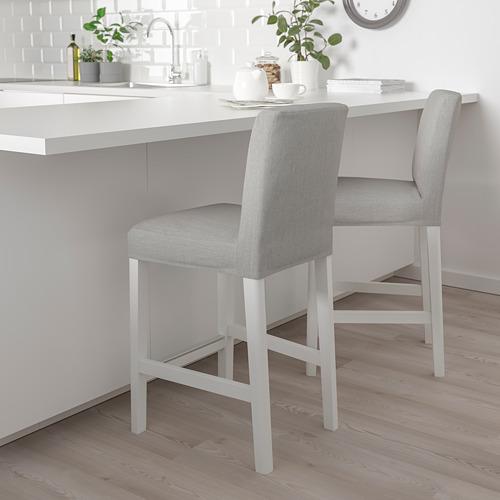 BERGMUND - 高腳凳連靠背, 椅座高度62cm, 白色/Orrsta 淺灰色 | IKEA 香港及澳門 - PE789236_S4