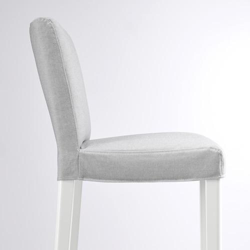 BERGMUND - 高腳凳連靠背, 椅座高度62cm, 白色/Orrsta 淺灰色 | IKEA 香港及澳門 - PE789235_S4