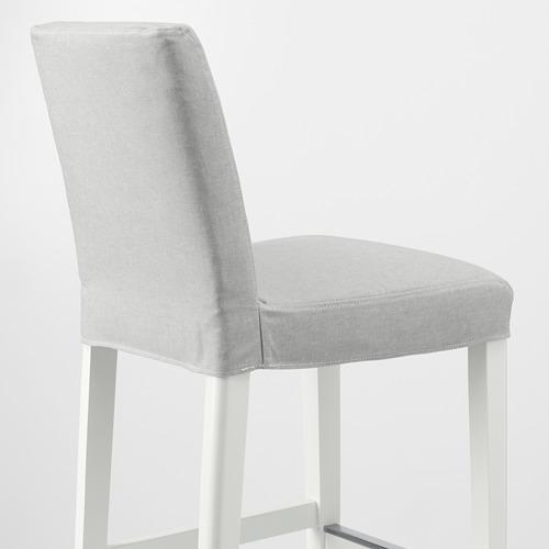 BERGMUND - 高腳凳連靠背, 椅座高度62cm, 白色/Orrsta 淺灰色 | IKEA 香港及澳門 - PE789234_S4