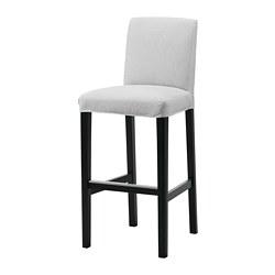 BERGMUND - 高腳凳連靠背, 黑色/Orrsta 淺灰色 | IKEA 香港及澳門 - PE789264_S3