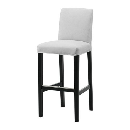 BERGMUND - 高腳凳連靠背, 黑色/Orrsta 淺灰色   IKEA 香港及澳門 - PE789264_S4