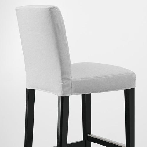 BERGMUND - 高腳凳連靠背, 黑色/Orrsta 淺灰色   IKEA 香港及澳門 - PE789265_S4