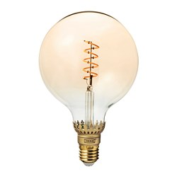 ROLLSBO - LED bulb E27 300 lumen, dimmable/globe brown clear glass | IKEA Hong Kong and Macau - PE692869_S3
