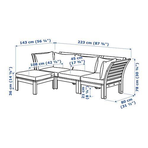 ÄPPLARÖ 戶外三座位組合式梳化