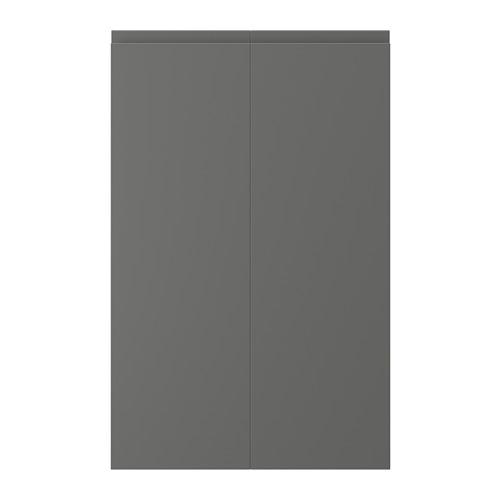 VOXTORP - 2-p door f corner base cabinet set, left-hand dark grey | IKEA Hong Kong and Macau - PE739170_S4