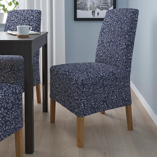 BERGMUND - 椅子連中長椅套, 橡木/Ryrane 深藍色   IKEA 香港及澳門 - PE789321_S4