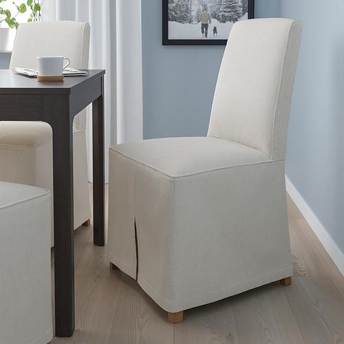 BERGMUND - 餐椅連長椅套, 橡木/Kolboda 米色/深灰色 | IKEA 香港及澳門 - PE789406_S4