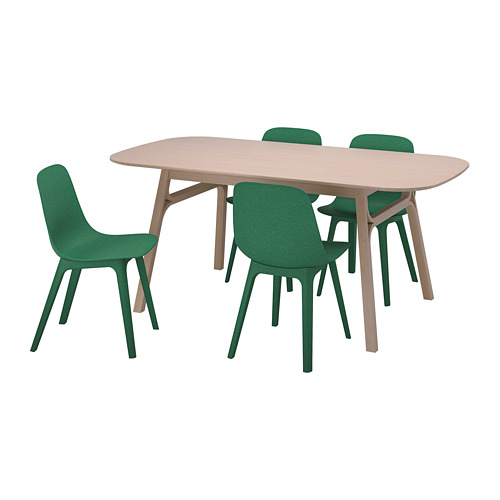 ODGER/VOXLÖV table and 4 chairs