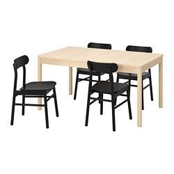 RÖNNINGE/RÖNNINGE - 一檯四椅, birch/black | IKEA 香港及澳門 - PE789455_S3