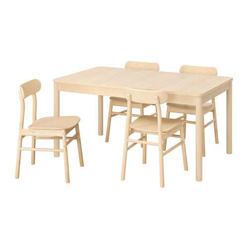 RÖNNINGE/RÖNNINGE table and 4 chairs