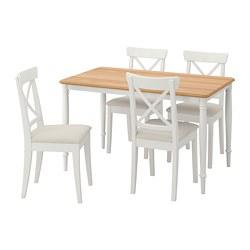 DANDERYD/INGOLF - table and 4 chairs, white/Hallarp beige   IKEA Hong Kong and Macau - PE789462_S3