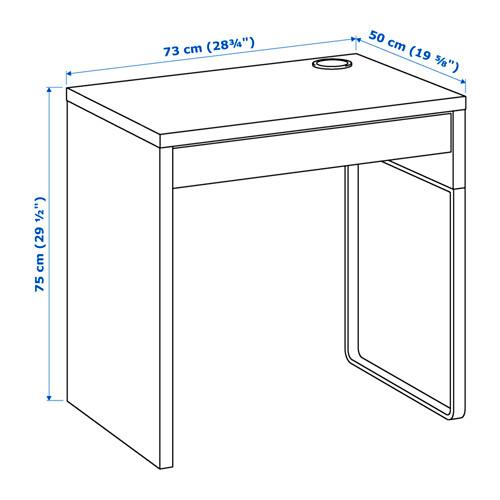 MICKE - desk, width 73 x depth 50cm, black-brown | IKEA Hong Kong and Macau - PE645106_S4