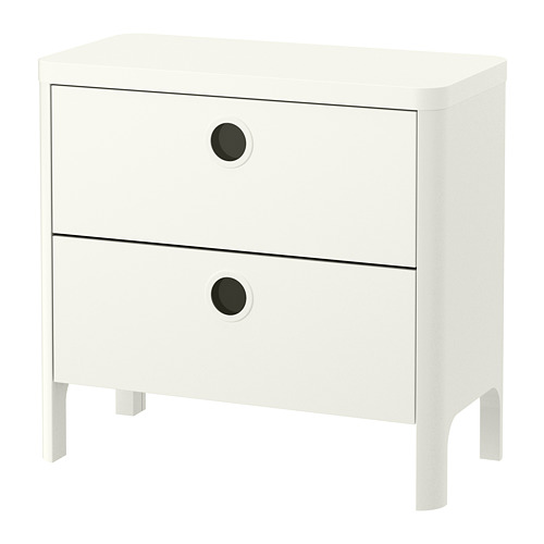 BUSUNGE - chest of 2 drawers, white | IKEA Hong Kong and Macau - PE693000_S4