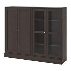 HAVSTA - 貯物組合連玻璃門, 深褐色 | IKEA 香港及澳門 - PE693037_S3