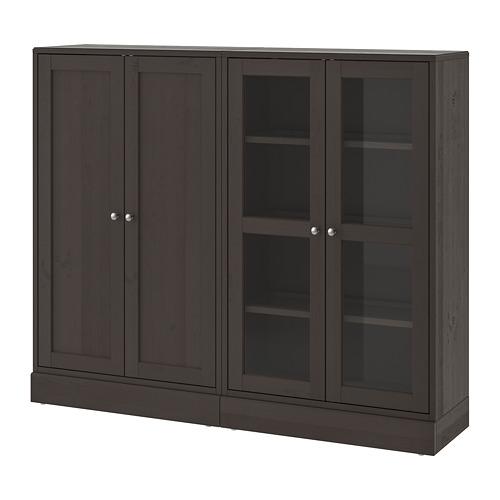 HAVSTA - storage combination w glass-doors, dark brown | IKEA Hong Kong and Macau - PE693037_S4