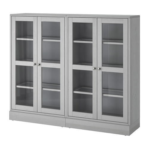 HAVSTA - storage combination w glass doors, grey | IKEA Hong Kong and Macau - PE693044_S4
