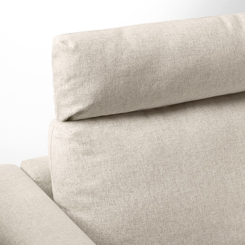 VIMLE - 3-seat sofa with chaise longue, with headrest/Gunnared beige | IKEA Hong Kong and Macau - PE675148_S4