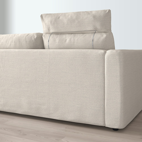 VIMLE - 3-seat sofa with chaise longue, with headrest/Gunnared beige | IKEA Hong Kong and Macau - PE675167_S4