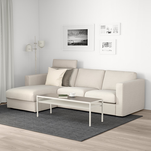 VIMLE - 3-seat sofa with chaise longue, with headrest/Gunnared beige | IKEA Hong Kong and Macau - PE675203_S4