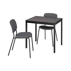 KARLJAN/VANGSTA - 一檯兩椅, black dark brown/Kabusa dark grey   IKEA 香港及澳門 - PE789571_S3