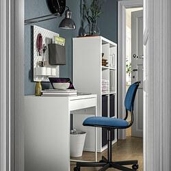 MICKE/ÖRFJÄLL/KALLAX - 書檯連貯物組合, and swivel chair white/blue/black | IKEA 香港及澳門 - PE834562_S3