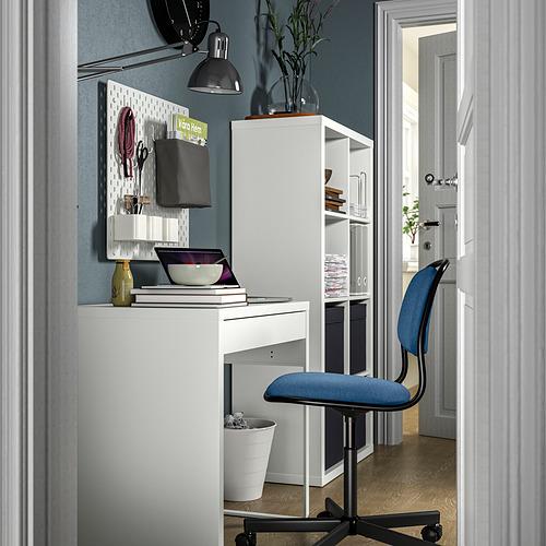 MICKE/ÖRFJÄLL/KALLAX - 書檯連貯物組合, and swivel chair white/blue/black   IKEA 香港及澳門 - PE834562_S4